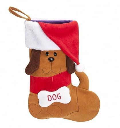 Calcetín de Navidad para la Navidad con dibujo perro también para il Tuo cachorro