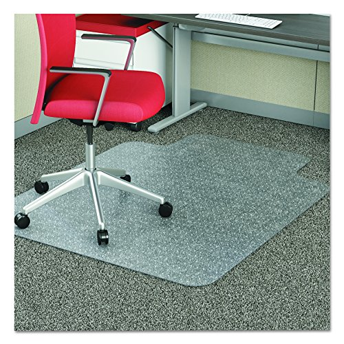 deflecto CM11112 36 x 48 w/Lip Clear EconoMat Occasional Use Chair Mat for Low Pile by Deflect-O (Image #2)