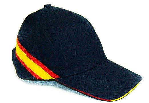 Lote DE 10 Gorras Azul Marino- Bandera ESPAÑA- Clasica: Amazon.es: Ropa y accesorios