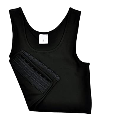f4ffd04d36af4 LES Lesbian Tomboy Short Vest Chest Binder Tops at Amazon Women's Clothing  store: