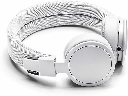 Urbanears Plattan ADV Wireless – Collapsible Headphones with Handmade Drivers, Remote and Sharing Zoundplug – True White