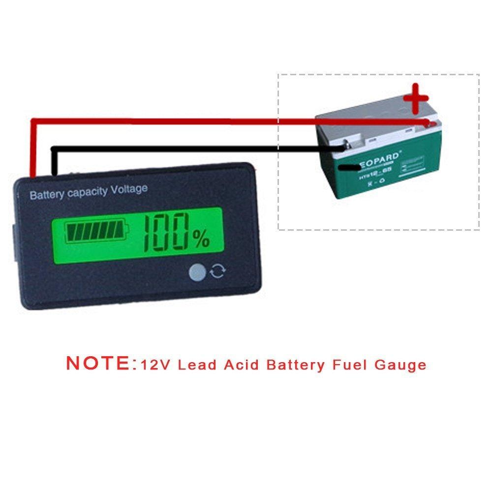 12v Analog Battery Fuel Gauge Meter Lead Acid Images Of Ez Go Wiring Diagram Indicator Sla Agm Gel Vrla Tester For Atvquads And 4 Wheelersstages