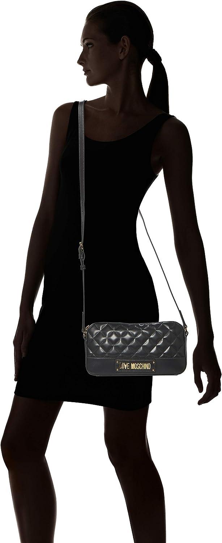 Love Moschino Borsa Quilted Nappa Pu, Bolsa de mensajero para Mujer, 14x26x6 centimeters (W x H x L) Gris (Grigio) F4k0QKfm