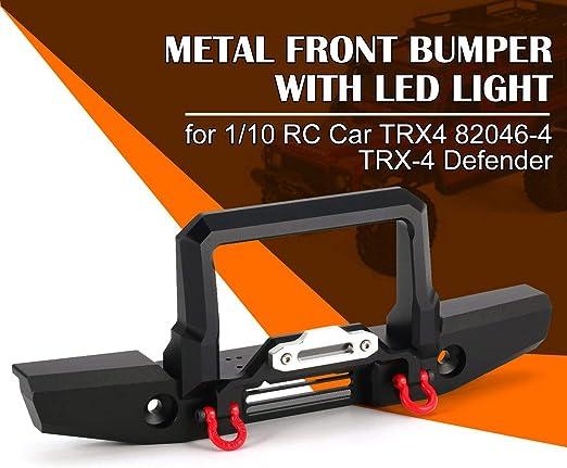 Parachoques Delantero de Metal con luz LED para 1/10 RC ...