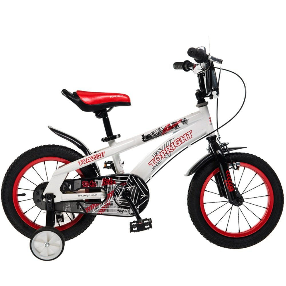 YANGFEI 子ども用自転車 子供用の自転車、トレーニングホイール付きユニセックス子供用自転車、様々なトレンディな機能、12,14,16および18インチ、おしゃれな男の子と女の子のための贈り物 212歳 B07DWPHL4Y 14 inch|赤 赤 14 inch