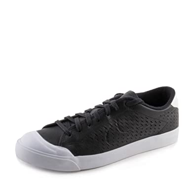 a877a3cc4e2 Nike Mens All Court 2 Low Leather Black White 724271-002