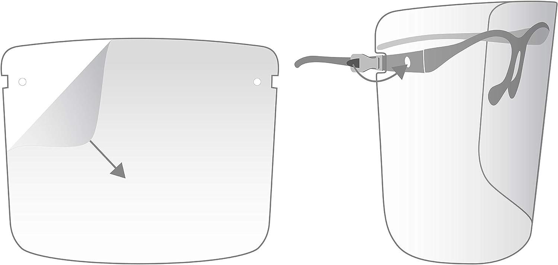 Visor de seguridad transparente. INTERMOUSE-Visera facial completa,Pantalla de protecci/ón facial Pantalla facial de visera