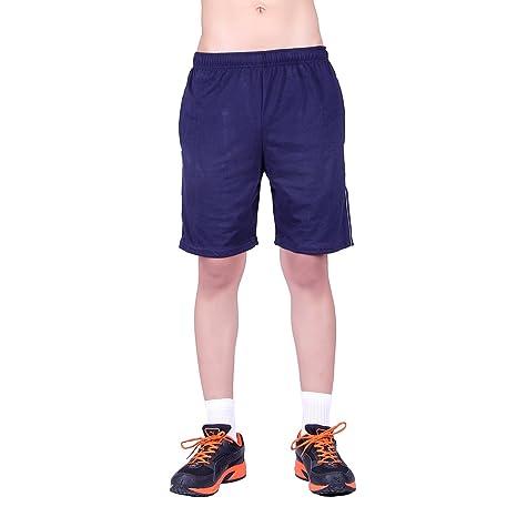 DFH Men's Cotton Shorts Blue Shorts at amazon