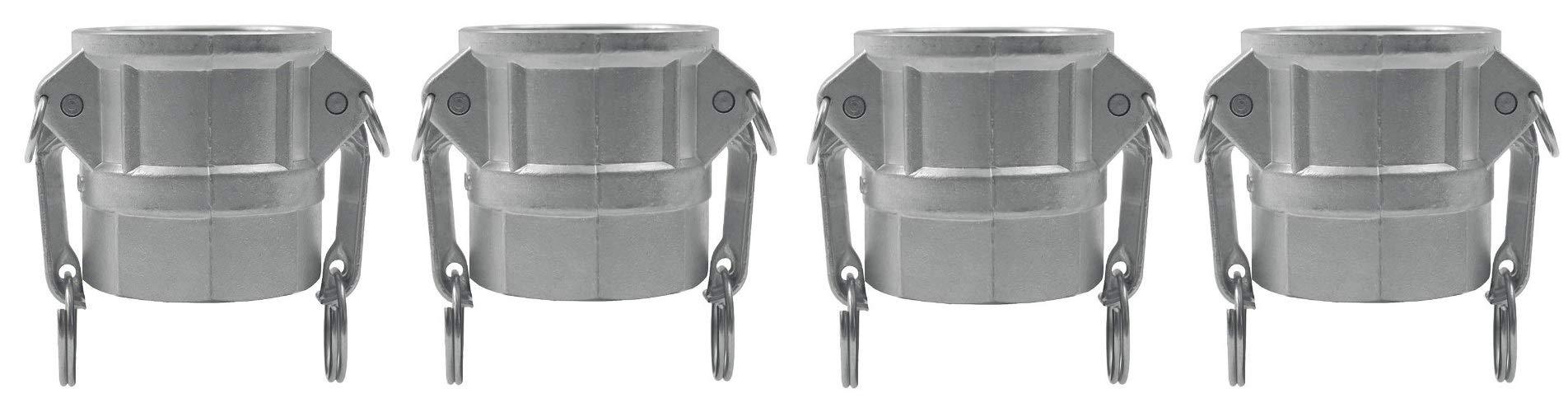 JGB Enterprises 030-04032-832CI Aluminum Type D Cam and Groove Fitting, 2'' Female Coupler x 2'' Female NPT (Fоur Расk)