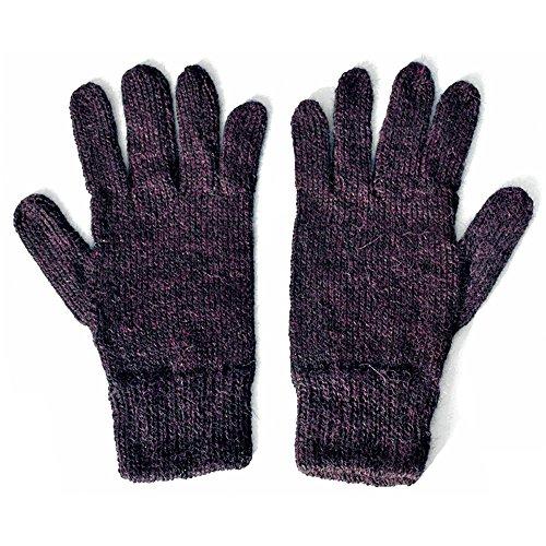 100% Alpaca Wool Knit Gloves ~ Mulberry Warm Winter Unisex Accessories ~ M