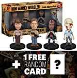 "Walking Dead ~3"" Mini-Bobble Head Figure Collection: Mini-Wacky Wobbler Series + 1 FREE Official Walking Dead Trading Card Bundle [40024]"