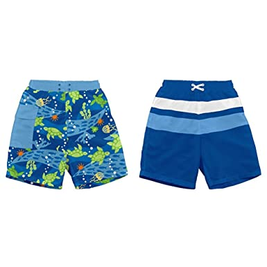 5cf2a06eaa764 Image Unavailable. Image not available for. Color: i Play. Baby & Toddler  Boys' Trunks with Built-in Reusable Absorbent Swim