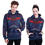 THENICE Neutral Long Sleeve Hoodies Sweatshirts lover Couples suits (XXL, Red bat)