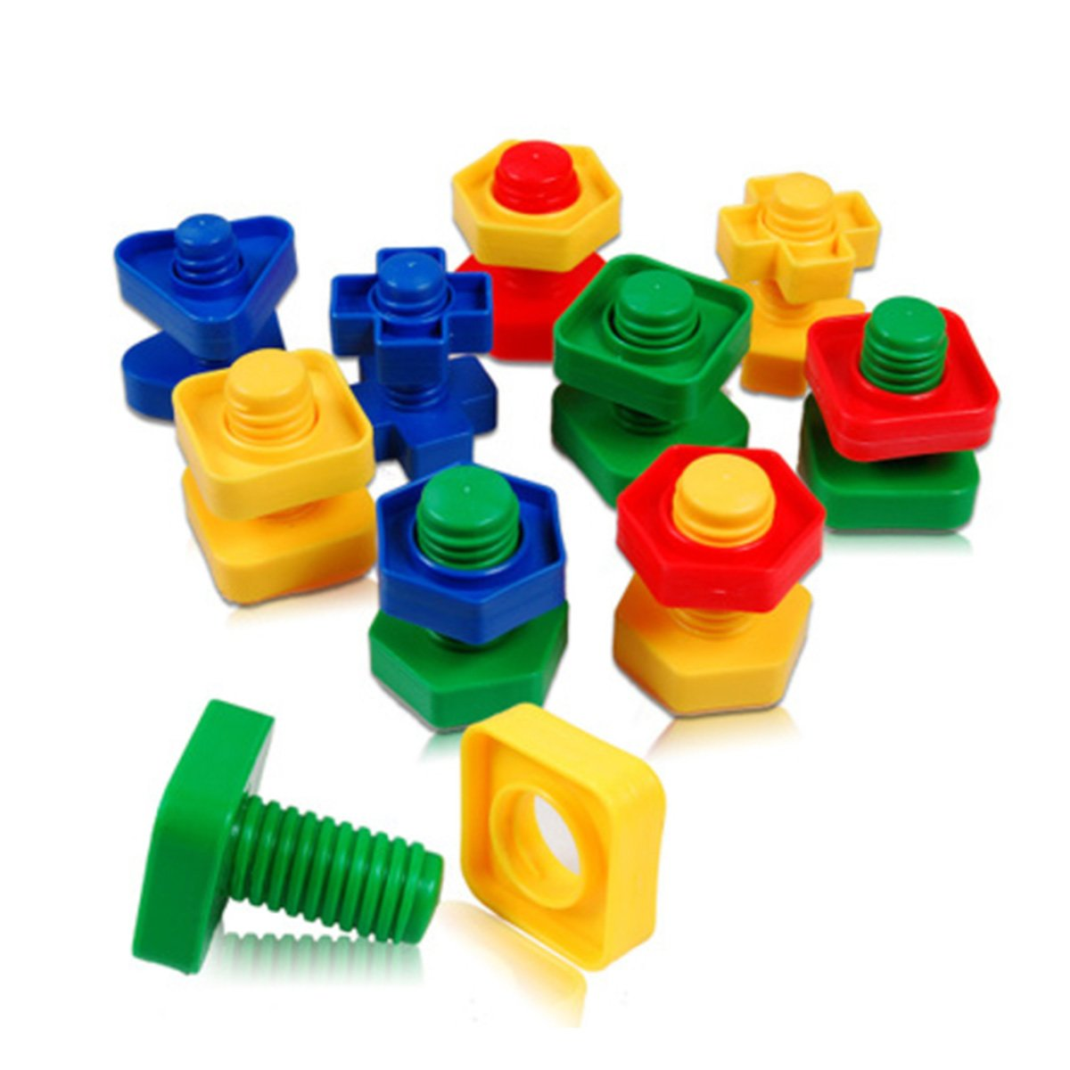 32 Pcs Jumbo Nuts and Bolts, Occupational Therapy Autism, Jumbo Nuts Bolts Toy, Screw nut toy, Screw toy,Jumbo Screw nut, Kids Matching Game Safe Material for Kids
