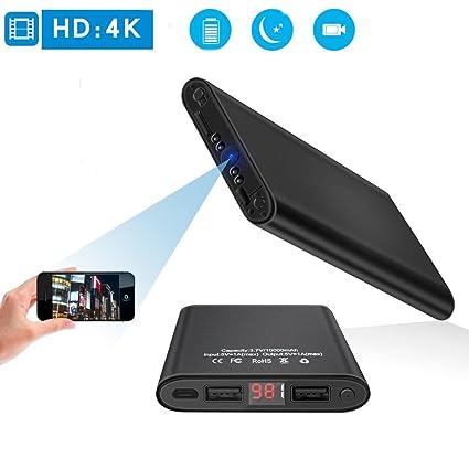 Mini DV HD 4K Oculto WiFi Cámara Espía visión Nocturna detección de Movimiento Remoto en Tiempo