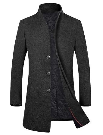 8567aeff0769ba Amazon   APTRO(アプトロ)コート メンズ チェスターコート 冬 上質仕様 ビジネスコート オシャレ ロング丈 ウール 男性コート    コート・ジャケット 通販