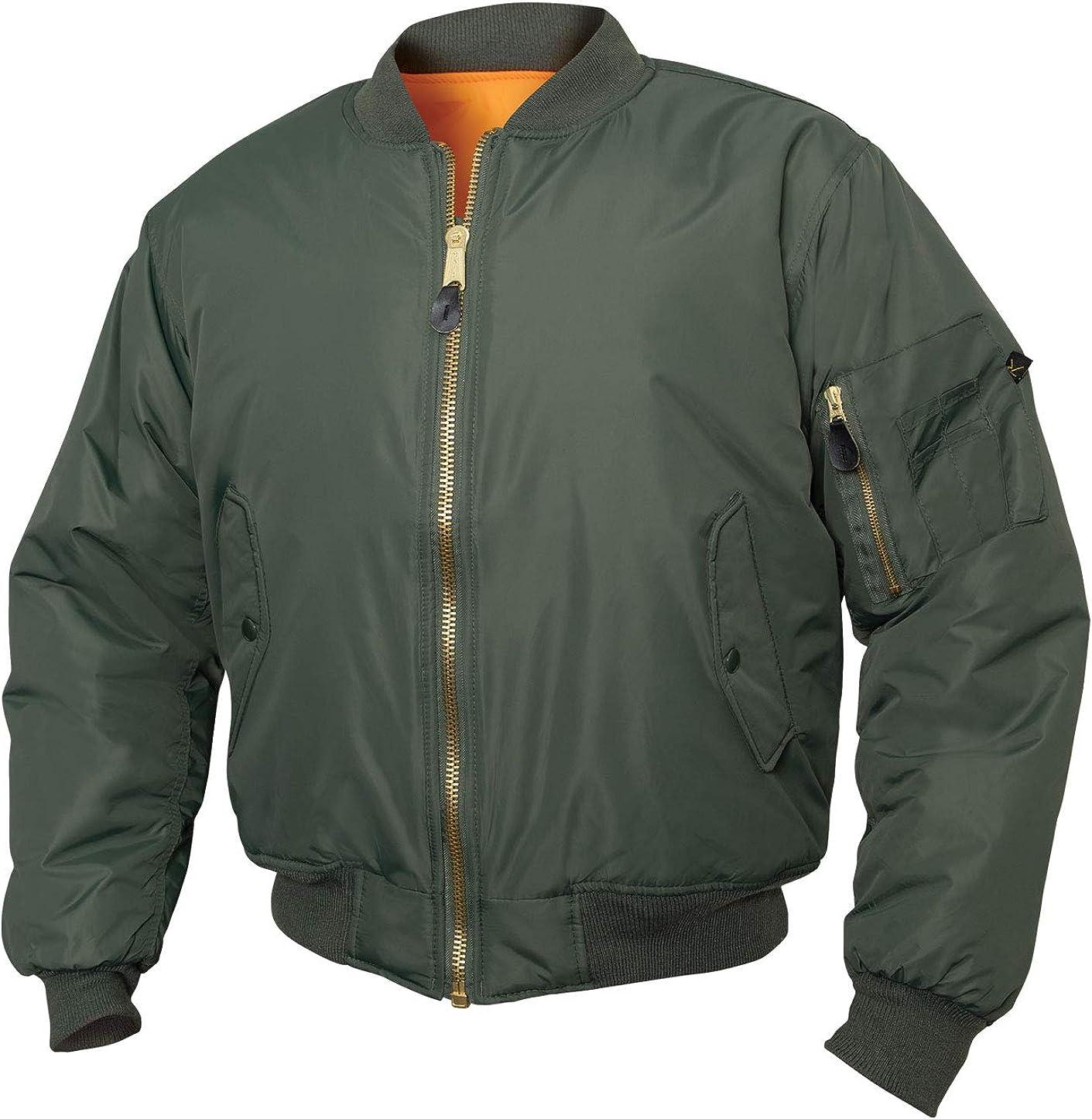 Military Bomber Jacket Rothco Enhanced Nylon MA-1 Flight Jacket
