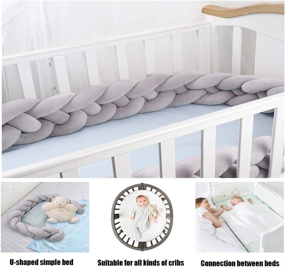 2.5M Baby Bed Crib Cot Bumper Pads Bedding Set Cushion Pillow Safe Anti-collision Crib Bumper for Baby Room Decor gaeruite Baby Crib Cushion
