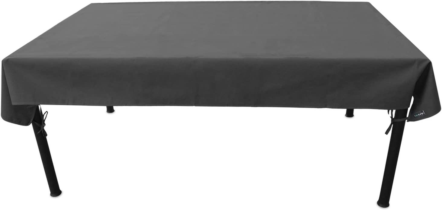Duraviva Outdoor Patio Table Weatherproof Cover – Waterproof, Easy to Install – Fits Rectangular Oval Tables Within 55 x 85 inches