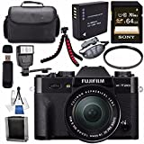 Fujifilm X-T20 Mirrorless Digital Camera 16-50mm Lens (Black) 16543016 + NP-W126 Lithium Ion Battery + Sony 64GB SDXC Card + Carrying Case + Flexible Tripod + Flash + Memory Card Wallet Bundle Review