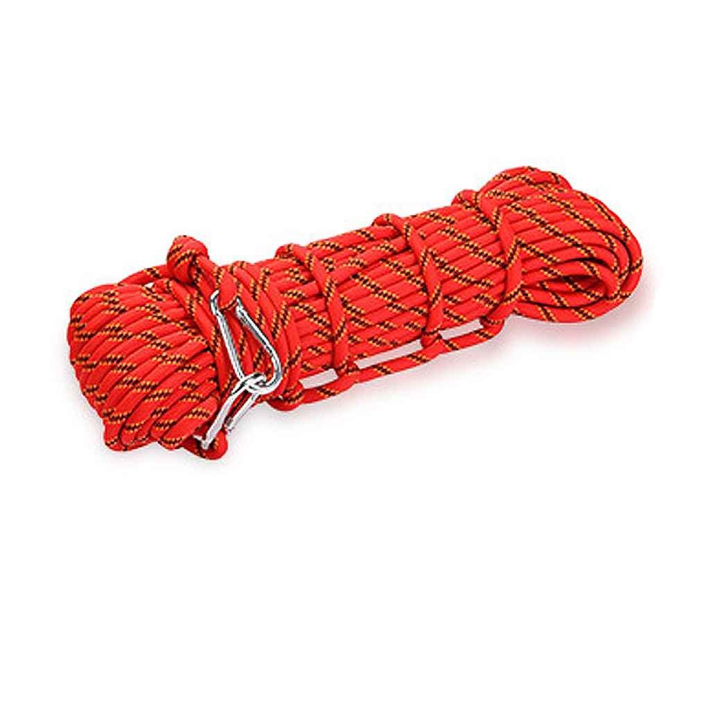 Providethebest XINDA 10mm Escalada Nudos de la cuerda de alta resistencia cuerda cordón de seguridad para el alpinismo al aire libre Senderismo Cuerpo de Bomberos azul Provide The Best