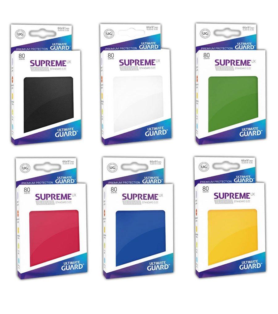 Ultimate Guard Supreme UX Sleeves - - - 6X 80 Hüllen Standard Format in den 6 Hauptfarben im Spar-Set Magic Pokemon Final Fantasy Karten 66ff93