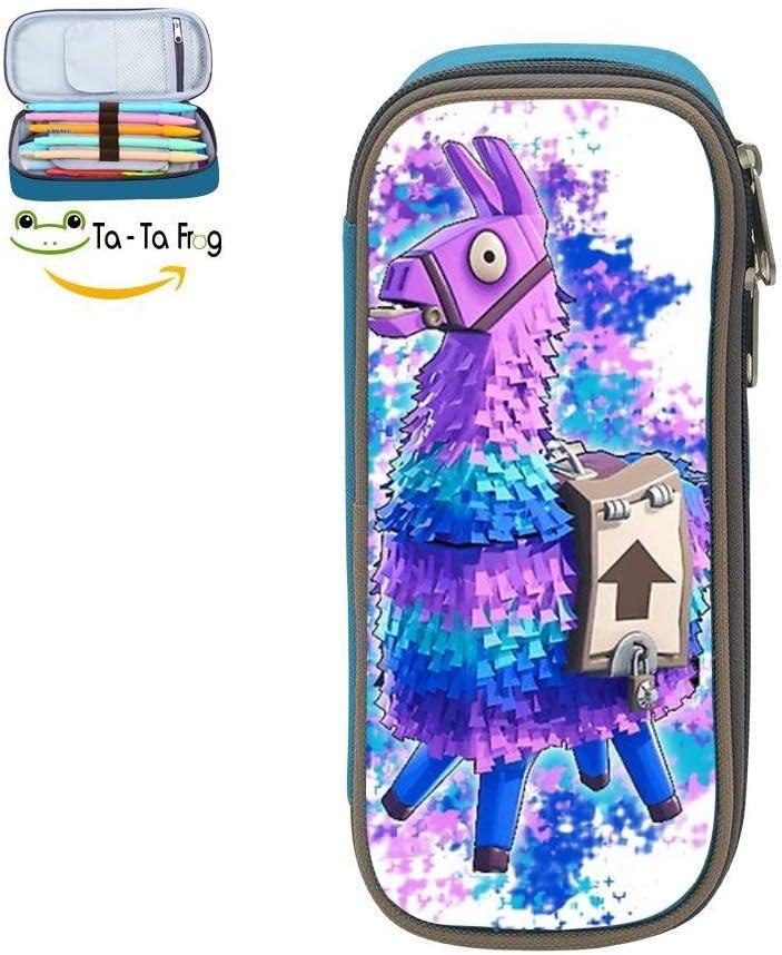 ForNite Llama Llama Logo 3D Impresión Multicolor Bolso Bolígrafo, Estuche para adolescentes Bolígrafo, Doble Cremallera Estudiante Papelería Niña Durable Gran Volumen Bolsa de Maquillaje: Amazon.es: Oficina y papelería