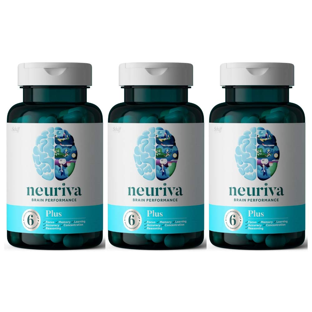 Neuriva Original Brain Performance Brain Support Supplement, 30 Count (Pack of 3)