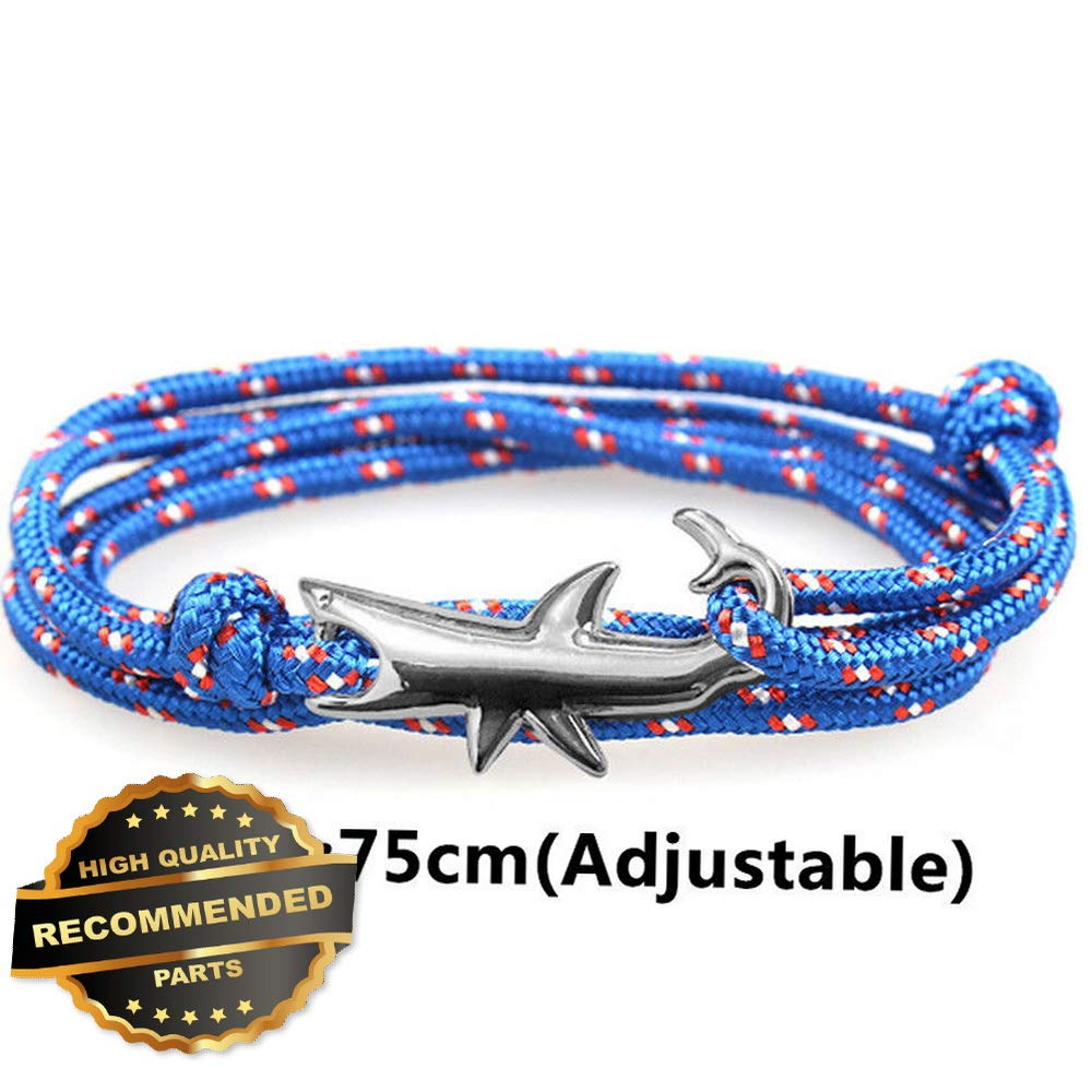 Style GATBRC-1127419 Gatton Shark Men Women Weaving Jewelry Bijoux Homme Rope Braclet Adjustable Bracelet