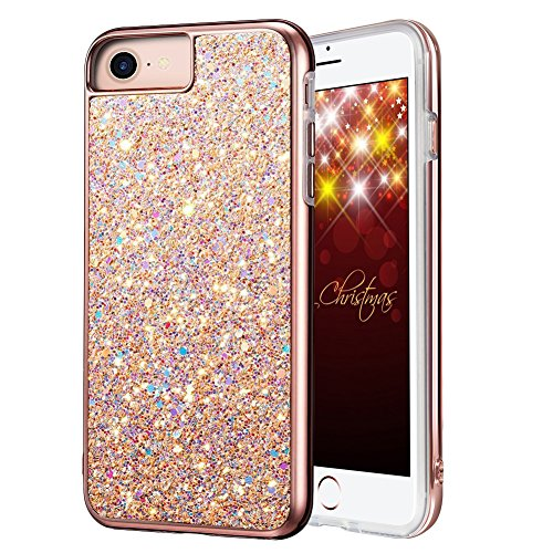 iPhone 8 Case, iPhone 7 Case, MIRACASE Bling Sparkle Dual Layer Shockproof Hard PC Cover Soft TPU Inner Glitter Case for iPhone 7 /8 /6 /6S (4.7