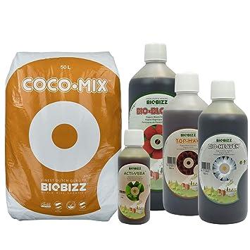 BioBizz - Pack coco-mix 50 L + Fertilizante: Amazon.es: Jardín