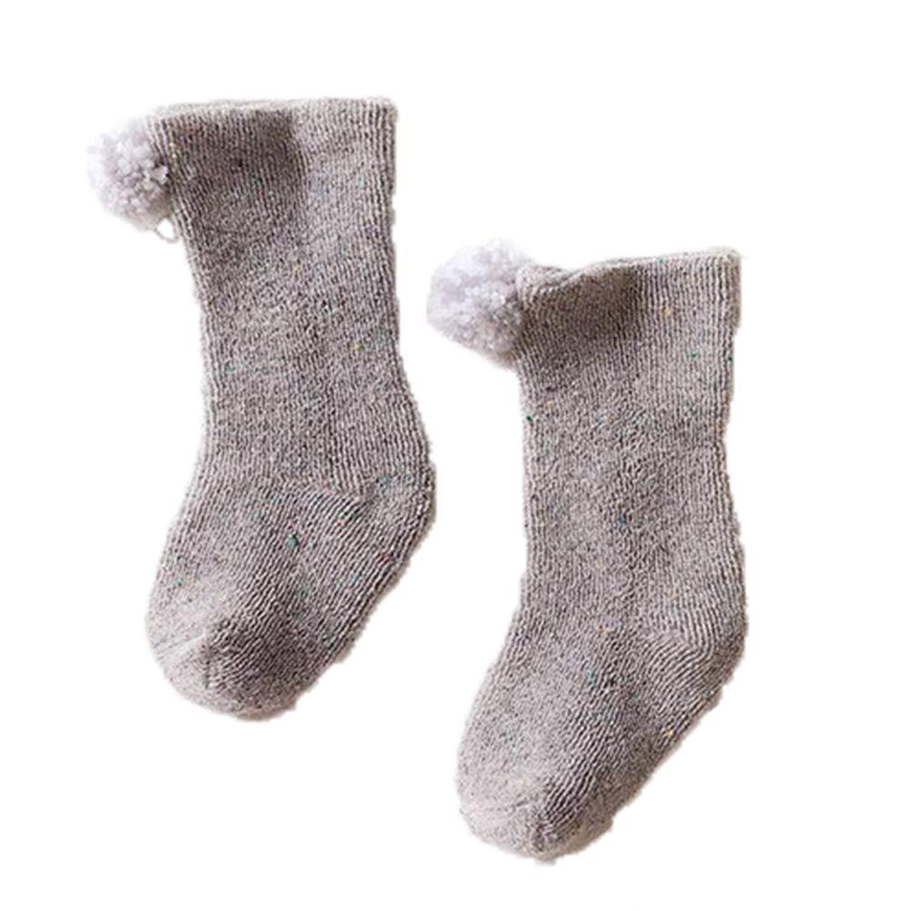 Infant Baby Girls Boys Autumn Winter Pom Pom Ball Soft Warm Comfortable Socks