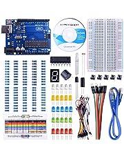 UNIROI UNO Starter Kit for Arduino with Free Tutorials, UNO R3 Board, Breadboard, Frame Sensor, 1 Digit 7-Segment Display, Resistance Card, Jumper Wire (147 Items) UA002