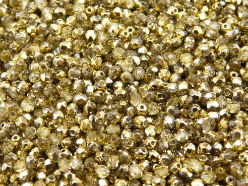 100 pcs Czech Fire-Polished Faceted Glass Beads Round 3mm Crystal - Glass Faceted Beads Czech 100