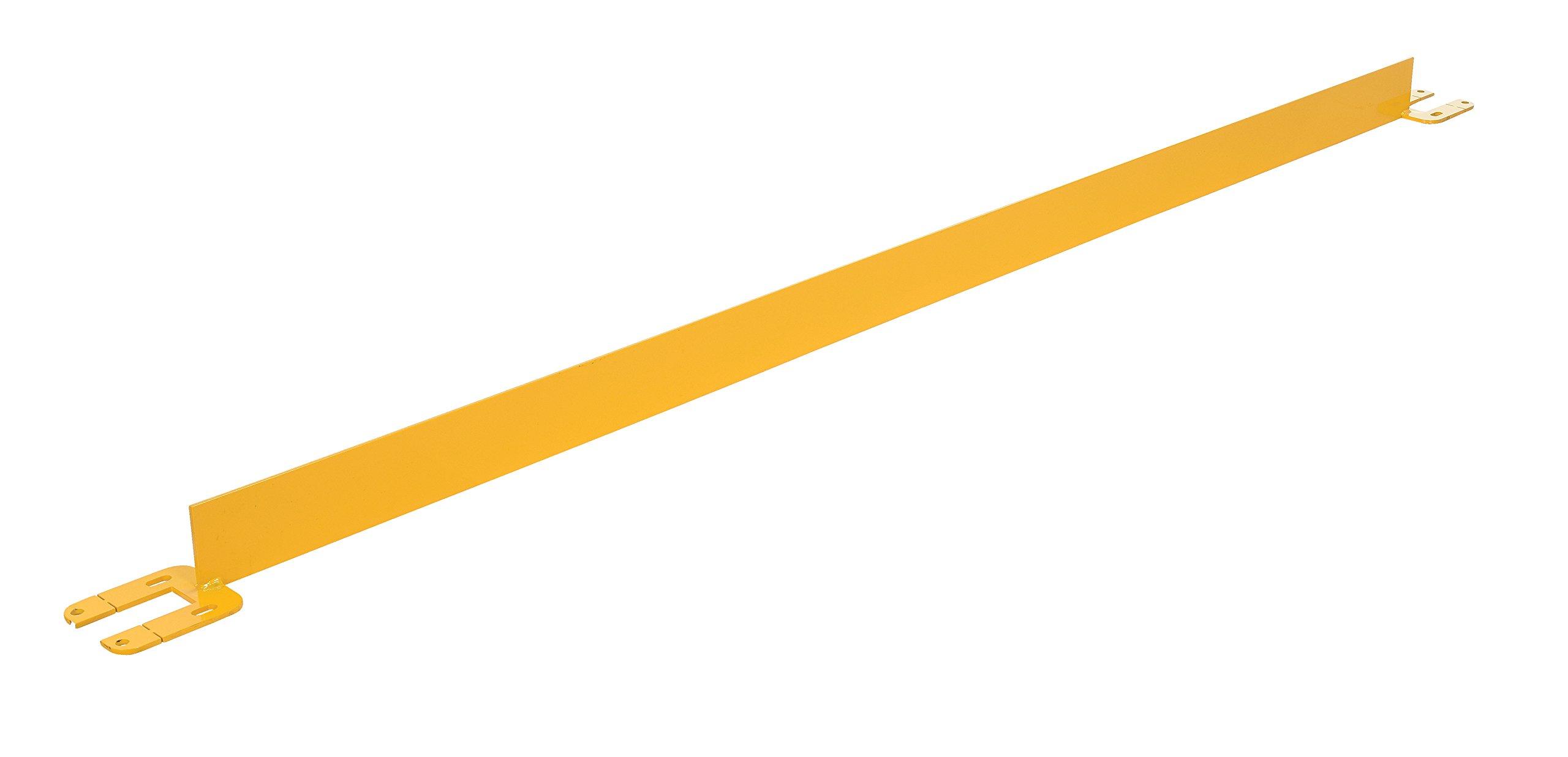 Vestil VDKR-8-TB Toeboard for Pipe Safety Railings, 8' Length, Yellow