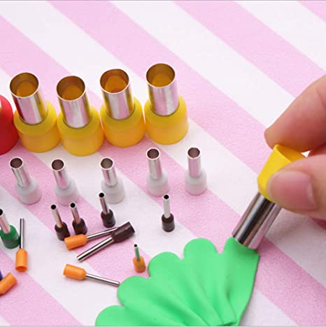 40Pcs Circle Mini Clay Cutters Indentation Round Polymer Pottery Molding Tool