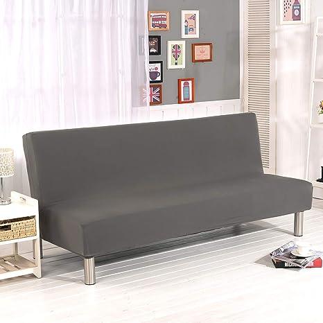 Fundas de Sofá Sin Brazos Plegable Fabric Poliéster Spandex Protector de Muebles Cubre Sofa Cubierta para Sofa Cama Fundas de Clic-clac Elástica ...