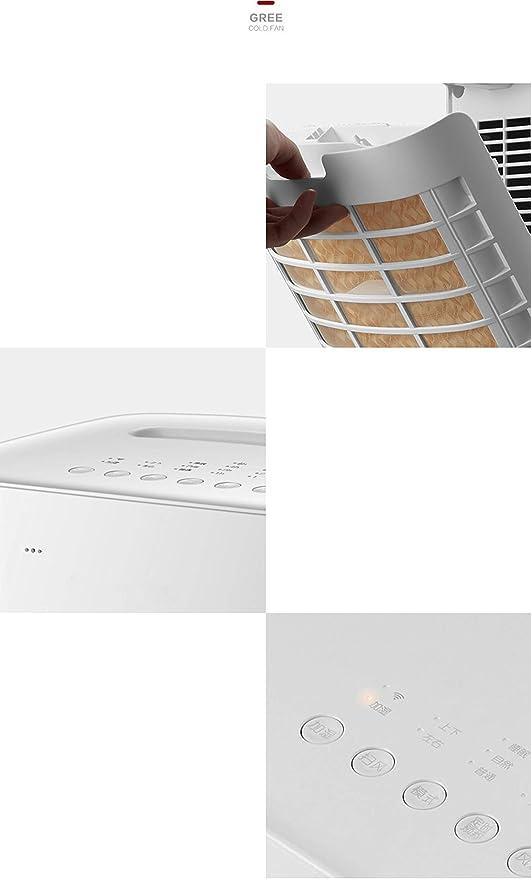 YHEB Vaporera,Aire Acondicionado Ventilador/Enfriador de Aire, refrigerador doméstico, Silencio/móvil/Agregar Agua y Enfriar: Amazon.es: Hogar