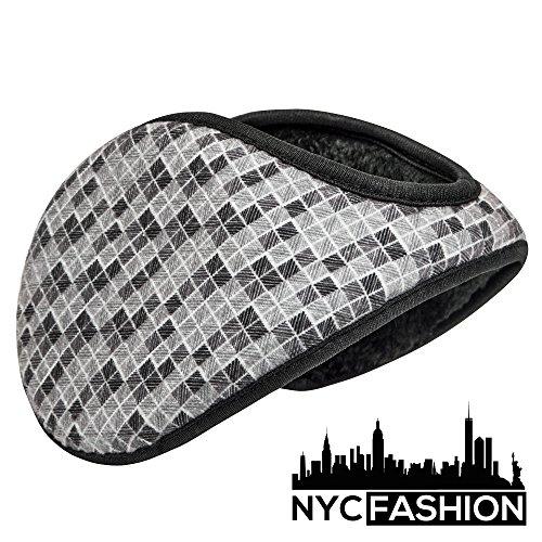 NYC Fashion Soft Silk Rayon Cotton Earmuffs Ear Warmers (Gray - Nyc Eyeglasses