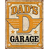 Humour Tin Sign featuring an Image for Dad's 24 Hour Garage 30x42cm