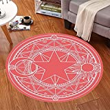 HOMEE Cartoon children round carpet bedroom computer chair carpet swivel carpet hanging basket mats (color, Size optional),100Cm,#2