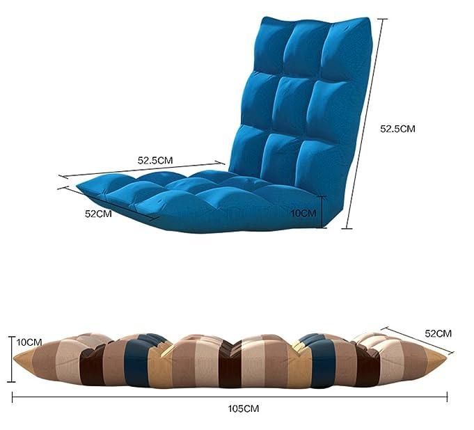 amazon    adjustable floor lounge chairs folding sofa recliner a lazy man sofasoft cushion foldable tatami futon chairs bean bags blue  kitchen  u0026 dining amazon    adjustable floor lounge chairs folding sofa recliner a      rh   amazon