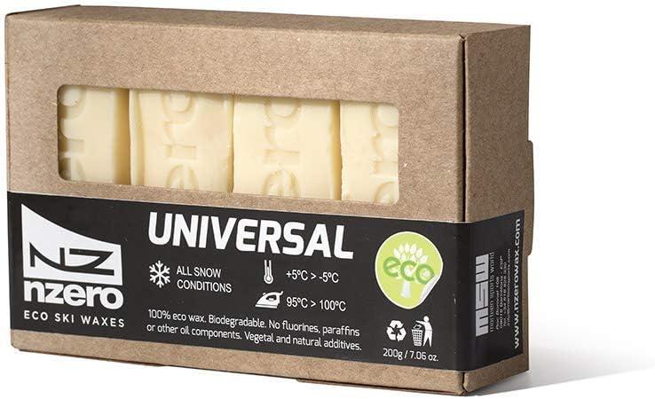   Fart V/ég/étale /Écologique Tout Type de Neige 200g 5/ºC//-5/ºC 50gx4 NZEROWAX Pack de Fart Universel Blanc Eco