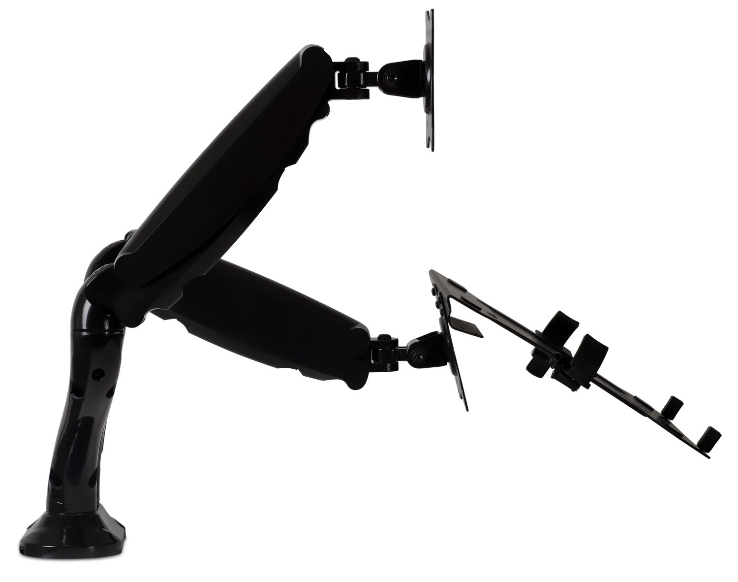 Mount-It! Laptop Desk Stand and Monitor Mount, Full Motion Monitor and Laptop Arm, Fits up to 15.6 Inch Notebooks, VESA 75, 100 Compatible with 22, 23, 24, 27, 32 inch Screens, 13.2 Lbs Per Arm by Mount-It! (Image #5)