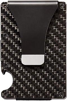 Stainless Steel Money Clip w//Carbon Fiber Design
