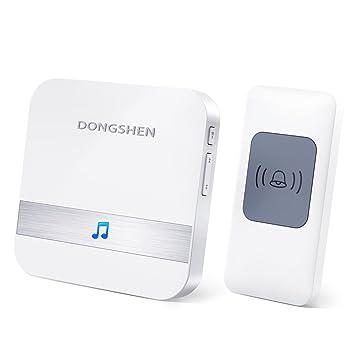 Wireless Doorbell Chime DONGSHEN Max 1000 Feet Range With 52 Ringtones  Garage Door Bell Flashing