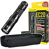 Nitecore EC20 960 Lumen CREE XM-L2 T6 LED Flashlight EDC with high quality EdisonBright holster