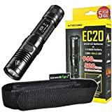 Nitecore EC20 960 Lumen CREE XM-L2 T6 LED Flashlight EDC with EdisonBright holster