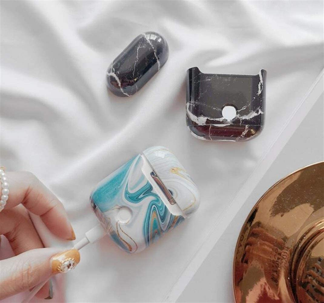Color : A Various Styles HJAZ Headphones Set Creative Airpods Protective Cover Marble Texture Design Creative Cool Wind Protect Your Bluetooth Headset from harm Hard Shell