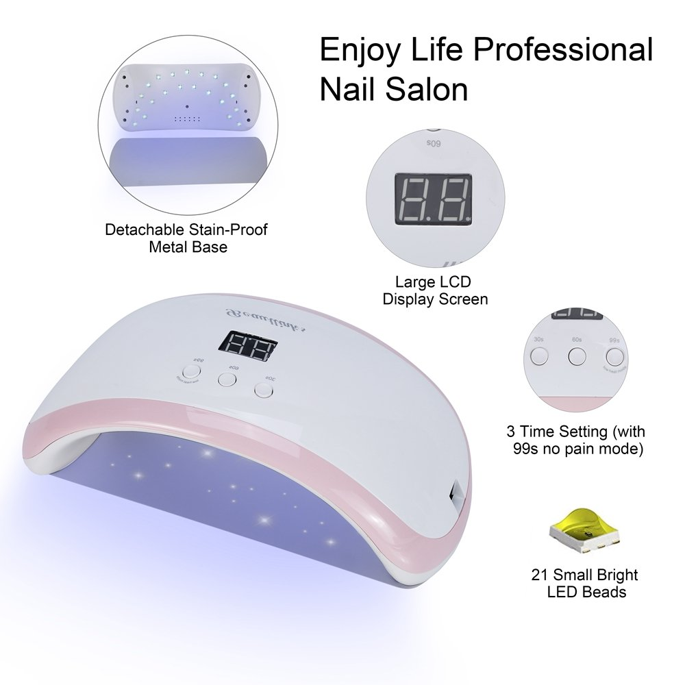 Beautlinks 36W LED UV Nail Dryer Curing Lamp Portable UV Gels Based Polish for Fingernail & Toenail …